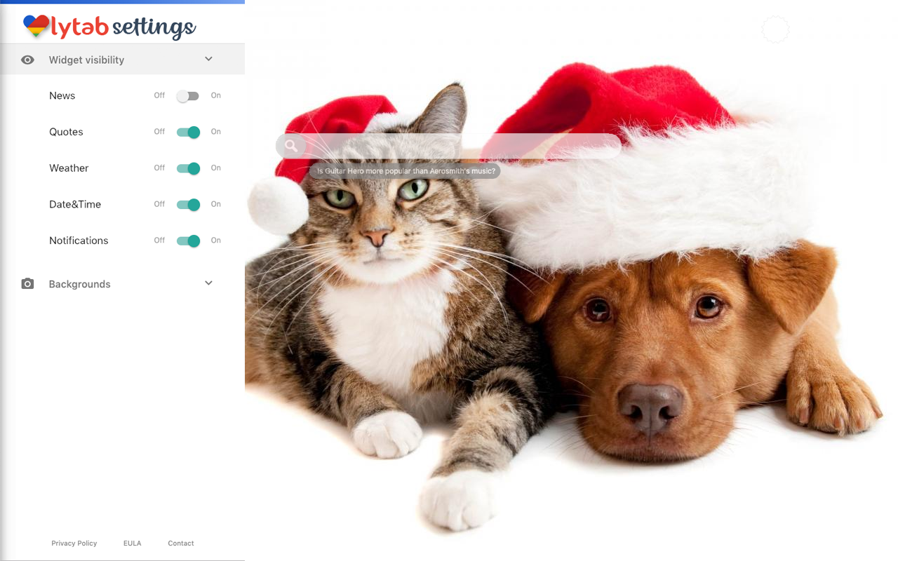 Christmas Dogs & Cats background
